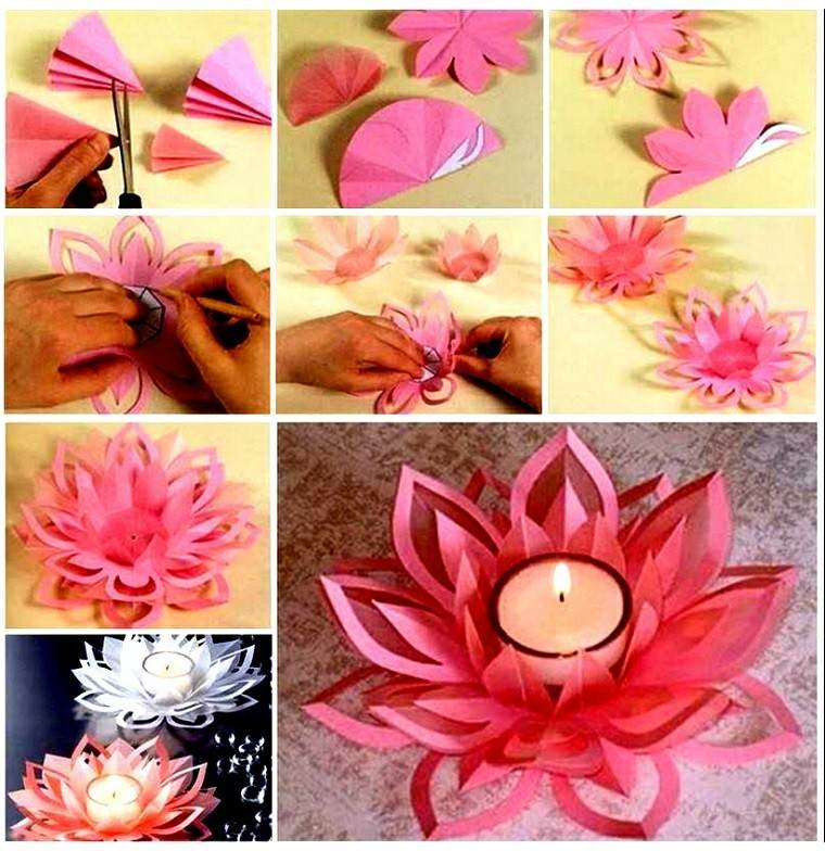 partavelas manualidades preciosas velas romanticas flor ideas