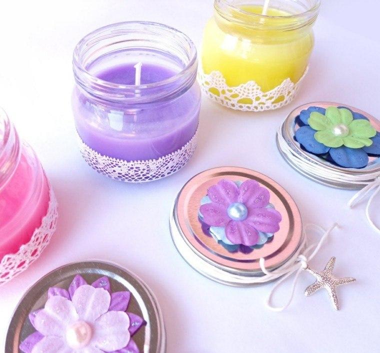 partavelas manualidades preciosas velas romanticas tarros pequenos ideas