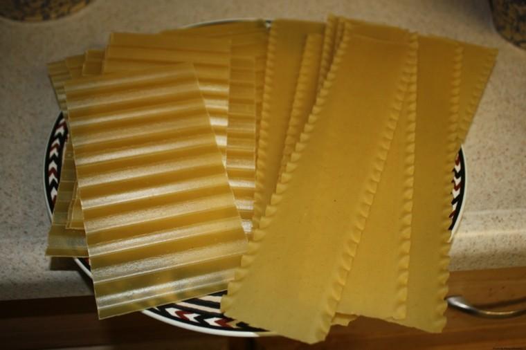 pasta receta de lasaña láminas