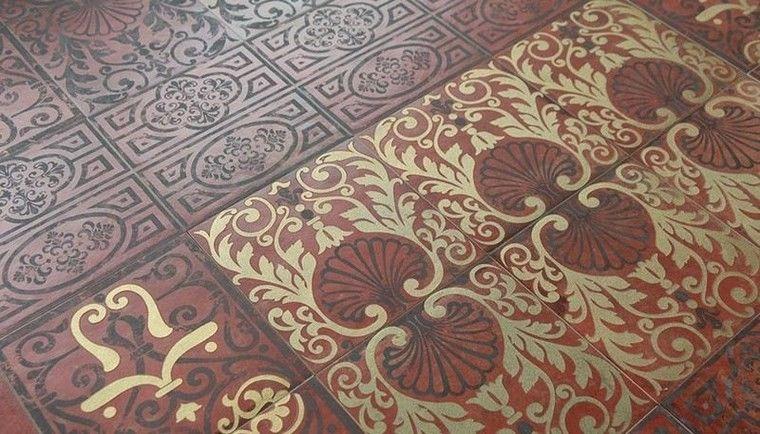 patron patchwork baldosas originales estilo epoca victoriana ideas