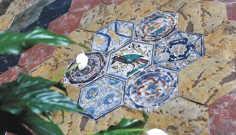 patron patchwork baldosas originales estilo rustico ideas