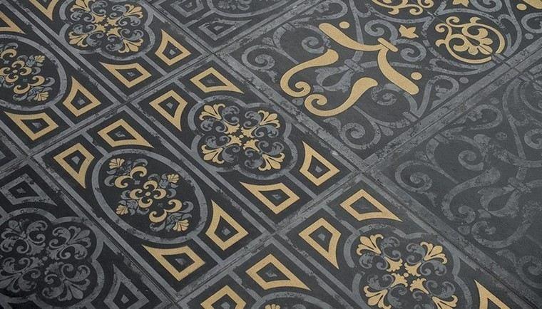 patron patchwork baldosas originales estilo victoriano ideas