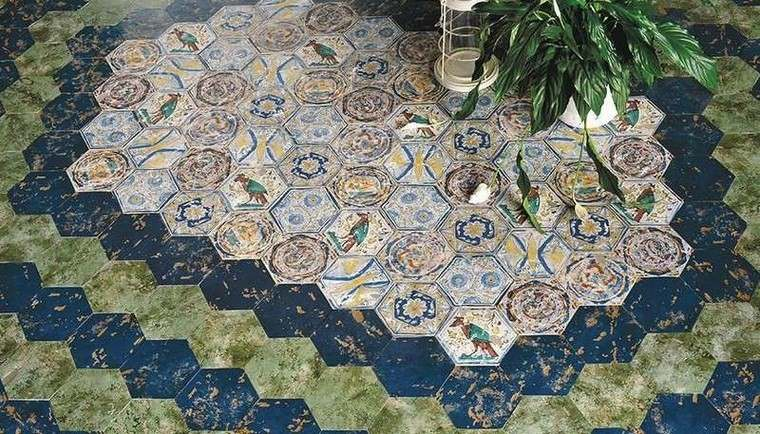 patron patchwork baldosas originales hexagonal eco ceramica ideas