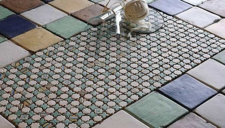 patron patchwork baldosas originales mosaico estilo rustico suelo ideas