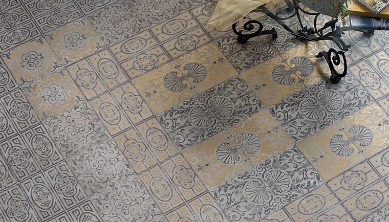 patron patchwork baldosas originales tradicional oro ideas