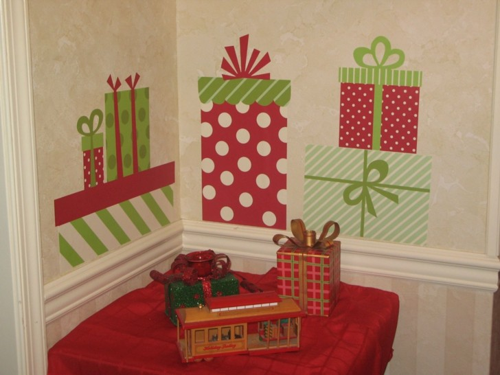 pegatinas vinilo forma regalos navidad
