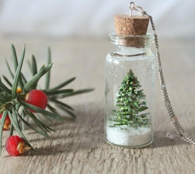 pequeño abeto bote cristal sal