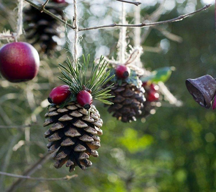 piñas pino adornos navidad deco