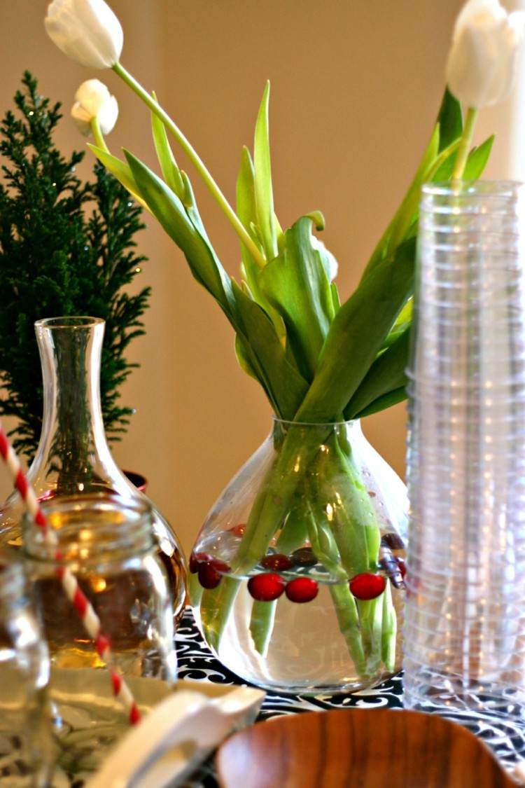 plantas agua fusta vidrio decorado vasijas