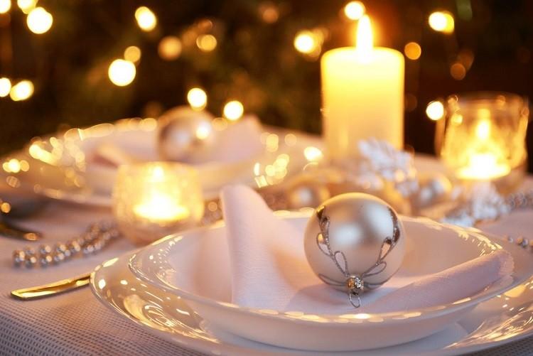 plato decorado inspiracion blanco velas