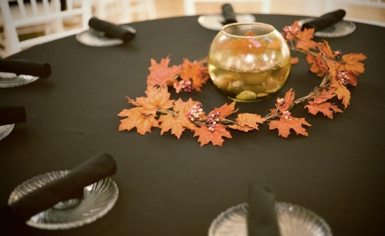 platos esfera seco hojas sencillo