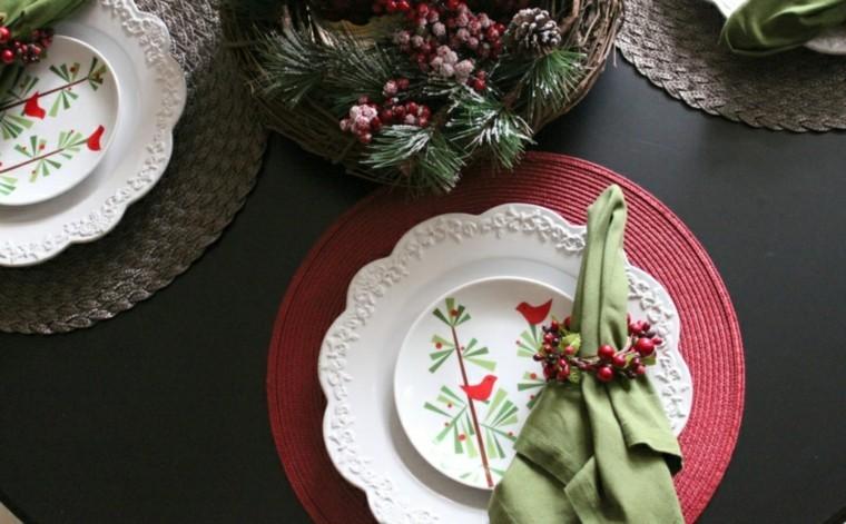 platos mesa motivos navideños  deco