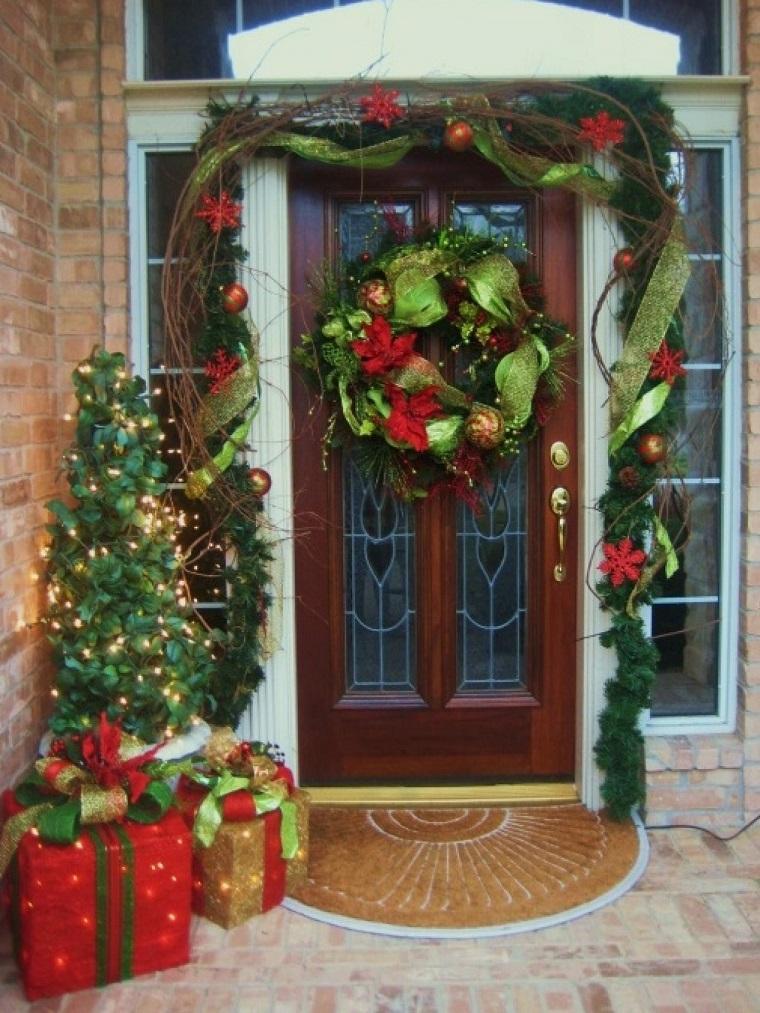 porche puerta de entrada decoracion navidena verde regalos ideas