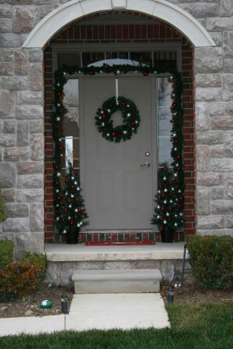 porche puerta de entrada ideas decoracion navidena fanstastico original