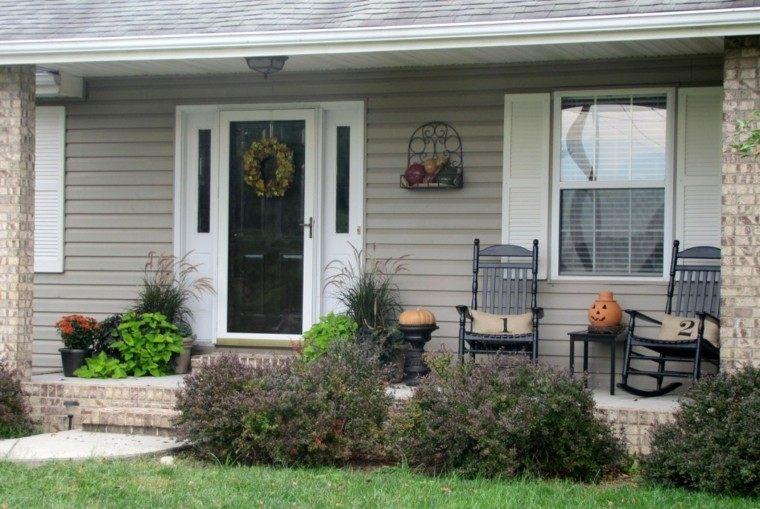porches decoracion otoño cesped mobiliario