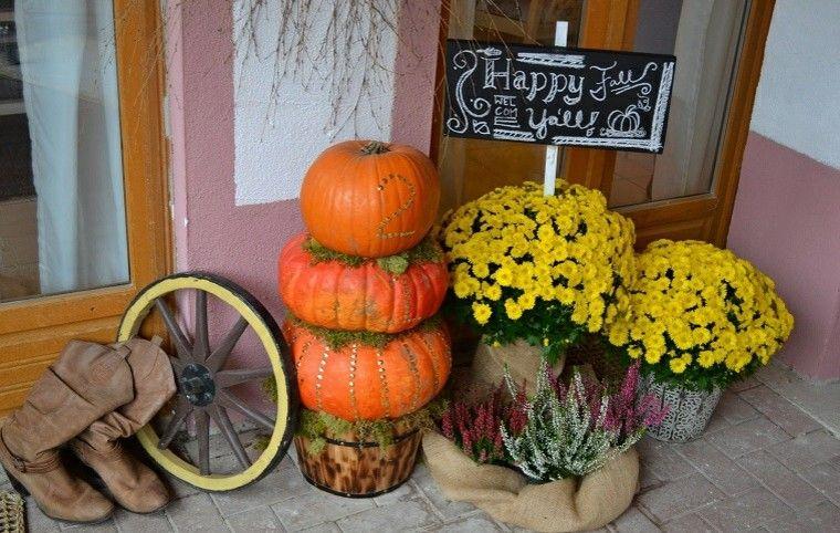 porches decoracion otoño diseño flores