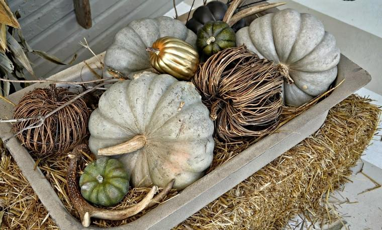 porches decoracion otoño dorado paja
