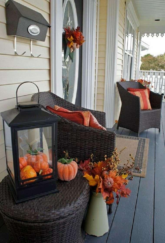 porches decoracion otoño mobiliario flores