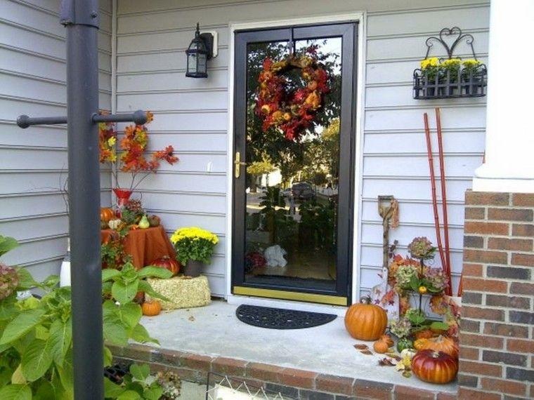 porches decoracion otoño ventanas calabazas