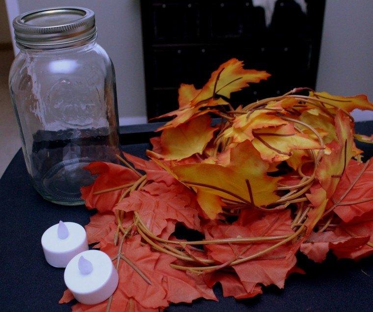 ramas hojas secas falsas
