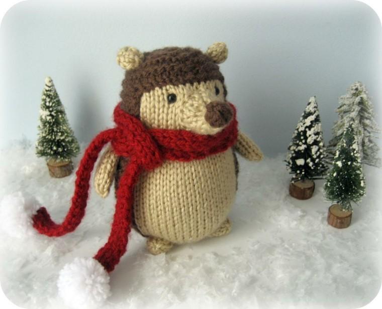 raton rata bufanda diseño nieve