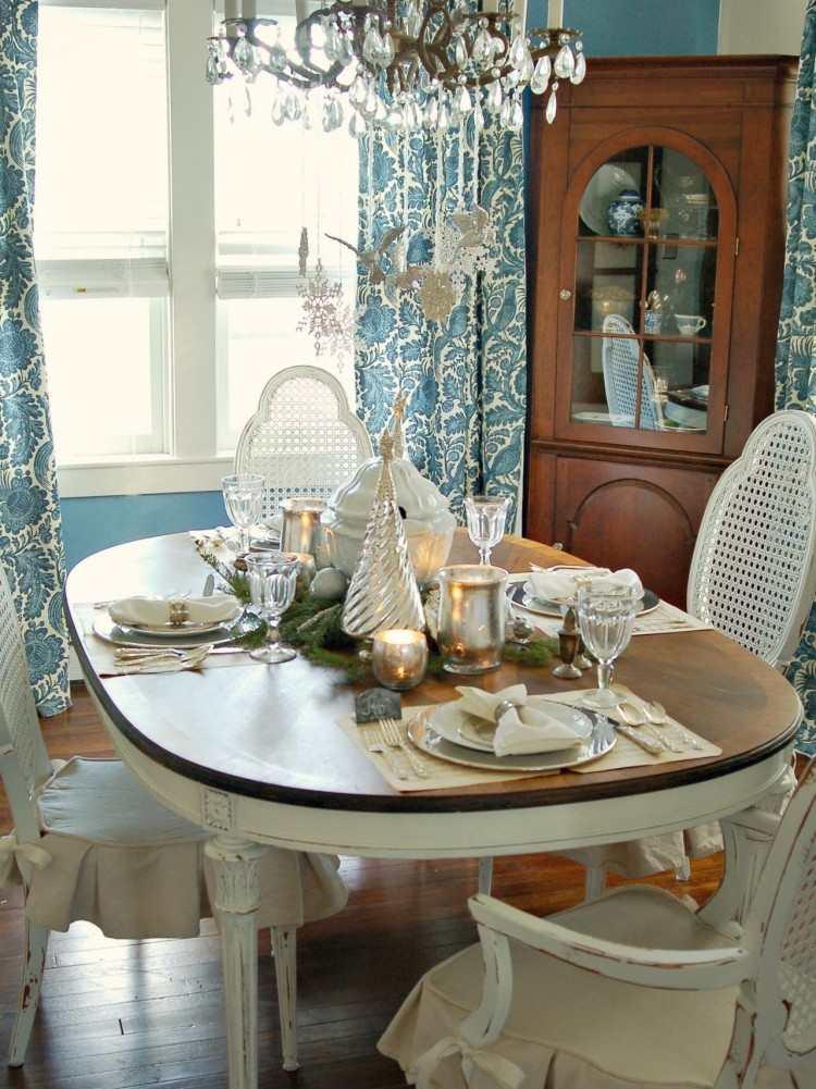 recetas decorar mesa navidad arbol navidad decorativo plata ideas