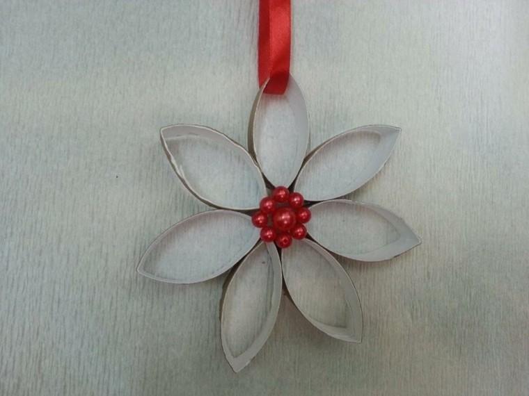 reciclado papeles baño decoracion rojo