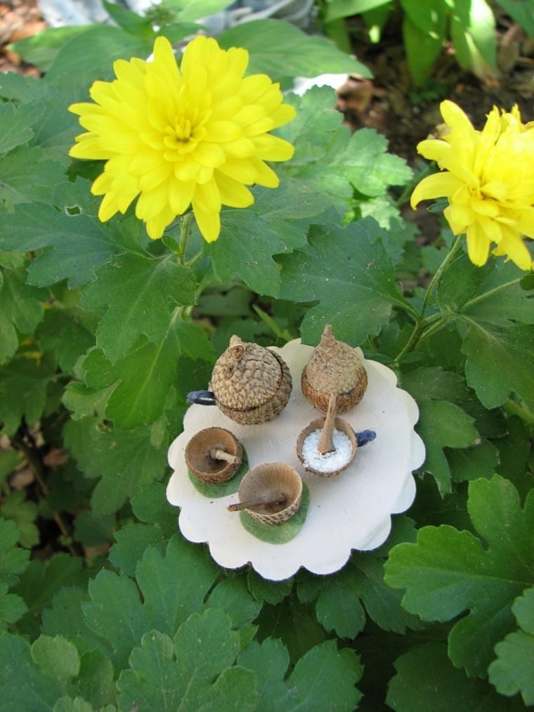 recipientes originales forma gorrito bellota