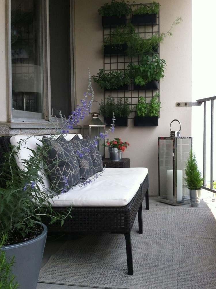 redonda mesa estilo alfombra plantas