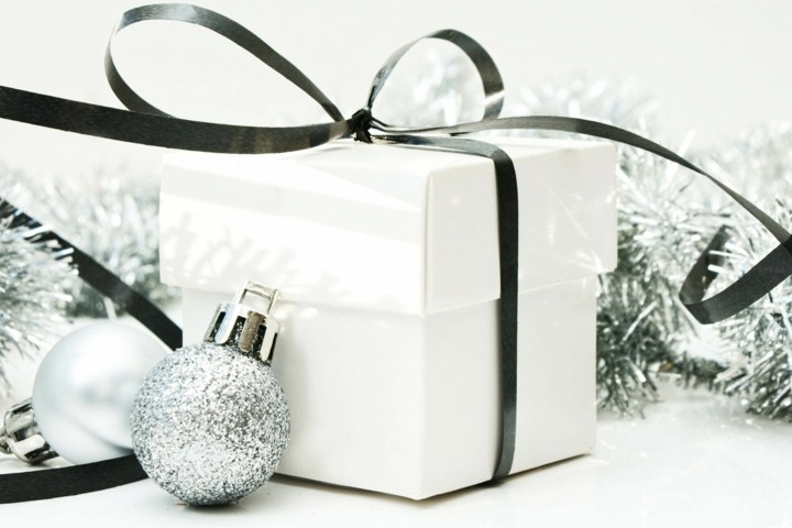 regalo navidad lazo color negro