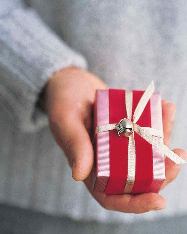 regalo navidad lazo cascabel dorado