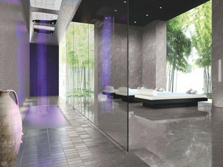Azulejos grises para suelos y paredes - 50 modelos