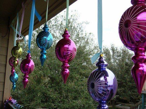 adornos colgantes navideños balcon