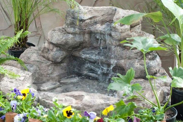 rocalla jardin deco flores