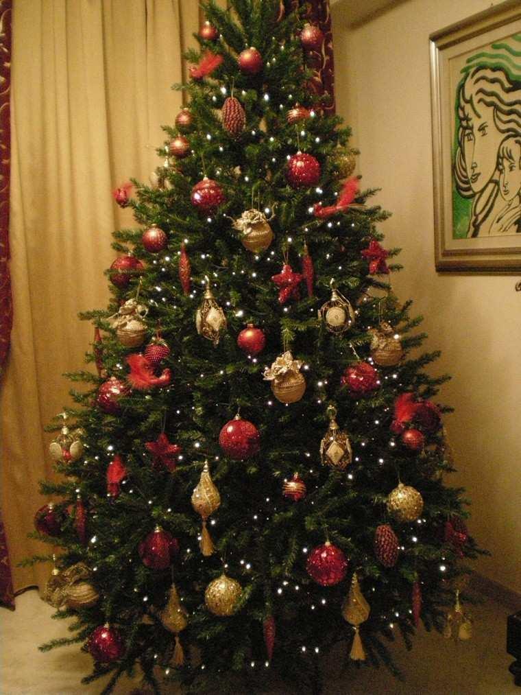 rojo oro adornos navidad arbol bolas grande ideas