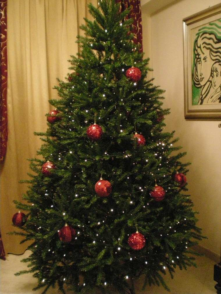 Color rojo y oro ideas para los adornos de navidad - Luces arbol de navidad ...