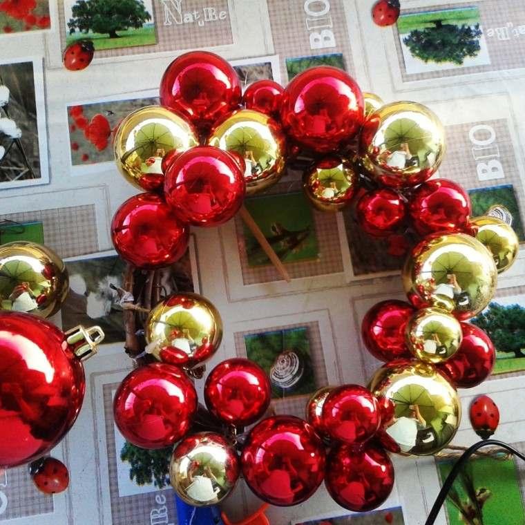 rojo oro adornos navidad bolas decorar casa ideas