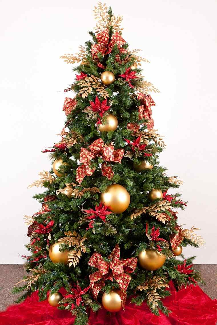 rojo oro adornos navidad clasica decoracion ideas