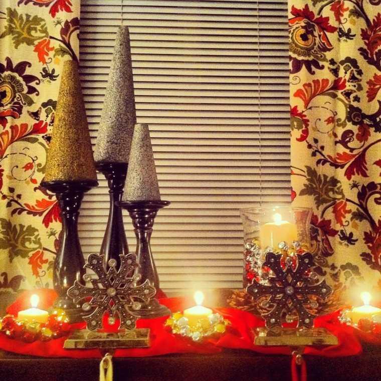 rojo oro adornos navidad fiesta decoracion ideas