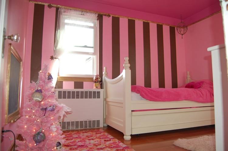 rosa infantil niñas decorado blanco
