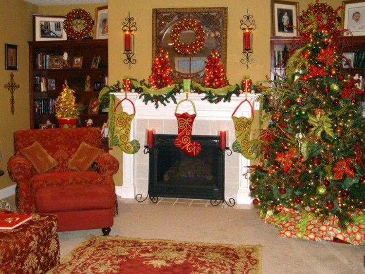 salones decorados motivos navideos salon decoracion navidad amarilla