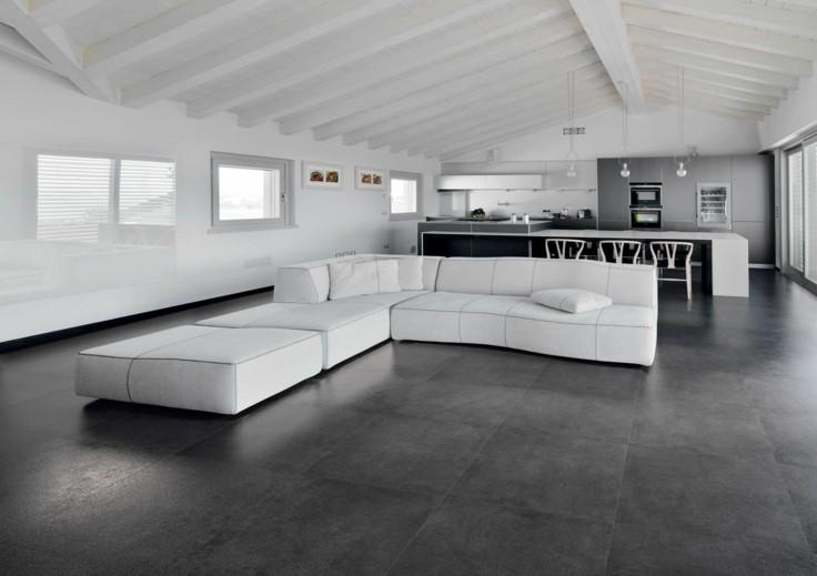 salon moderno blanco gris