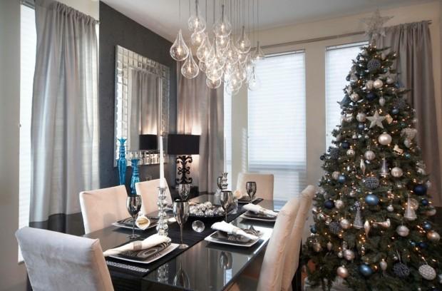 salon lujoso decoración color gris