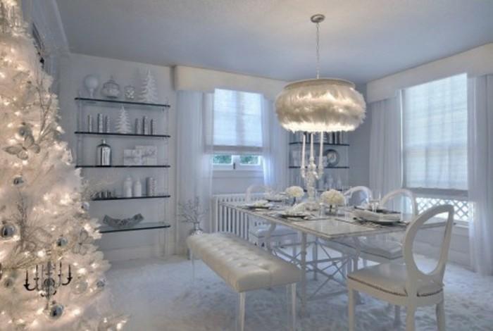 salon blanco lampara blanca