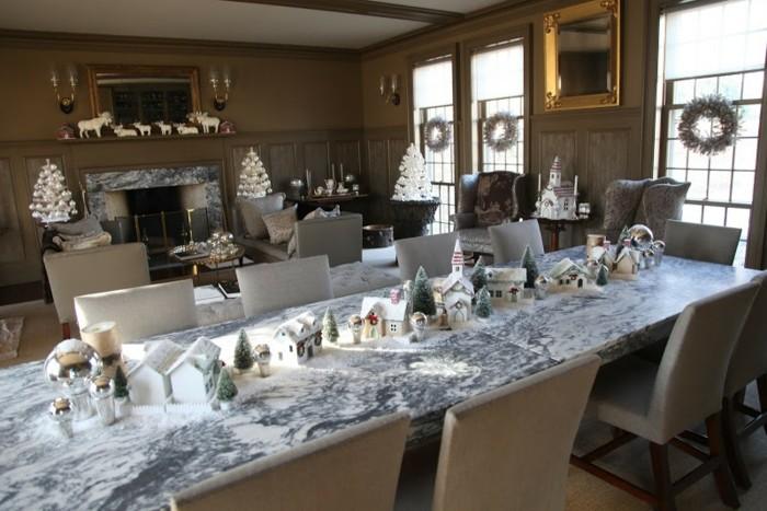 salon navidad decoración mesa