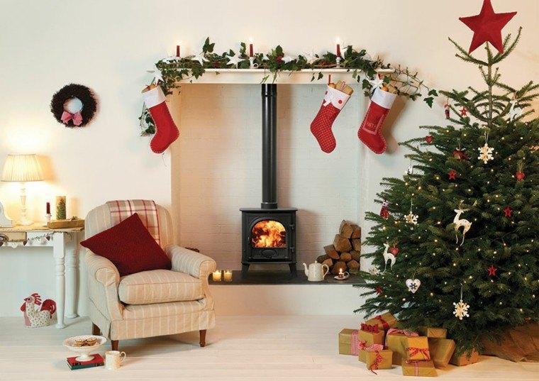 salon decoracion navidad guirnalda