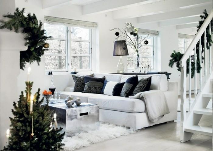 salon decoracion navidad nordica