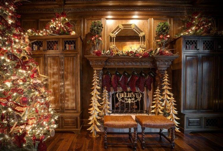 Motivos navide os para decorar la chimenea 50 ideas - Motivos de la navidad ...