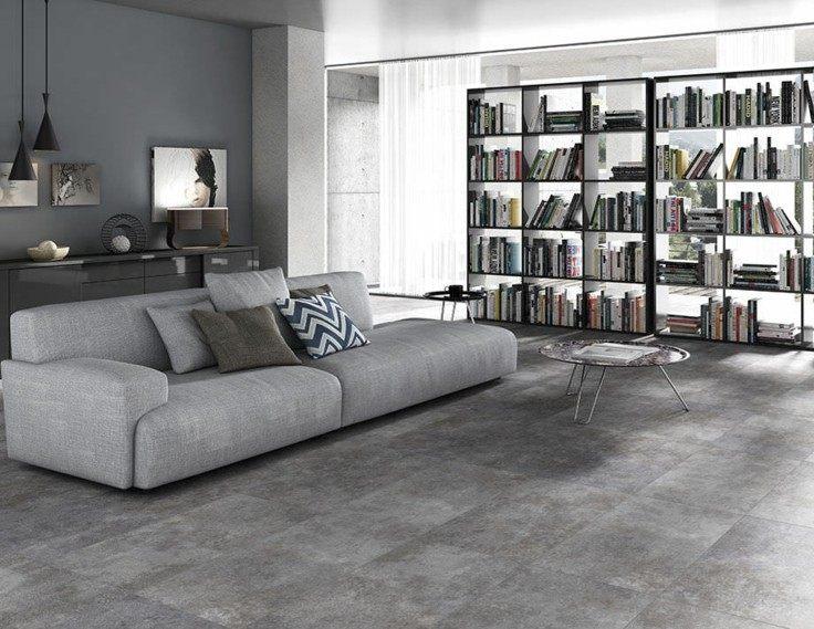 Azulejos grises para suelos y paredes 50 modelos - Colores grises para salones ...