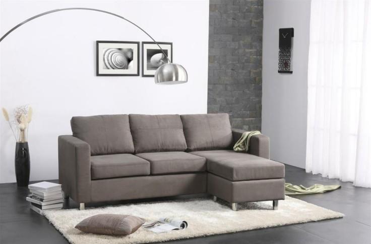salon moderno sofa color gris